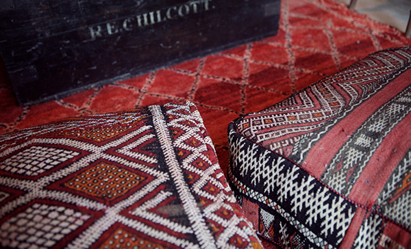 Moroccan Rugs and Kilim Poufs