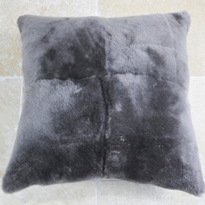 Sheepskin Cushion Mouse Grey Shorn