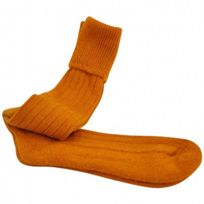 Mohair Shooting Socks Dark Mustard